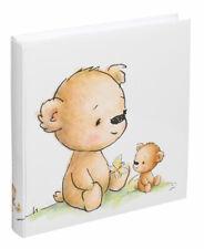 Teddybär Fotoalbum 30x30 cm 100 weiße Seiten Baby Foto Album Fotobuch