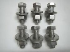 """10-1/2""""-13 x 2"""" 316 Stainless Steel Hex Head Bolt WASHERS NUT 1/2"""" SS F593G316"""