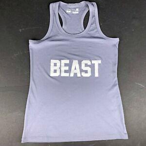 Marshawn Lynch Beastmode Store Womens L Tank Top Shirt Gray Purple Workout Gym
