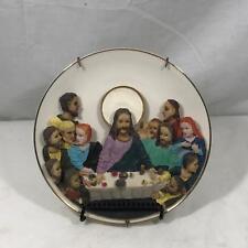 "Sophia Ann The Last Supper Jesus Religious Glass & Ceramic Decorative Plate 7.5"""