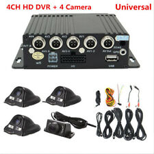 270pcs 4CH Panoramic Car Mobile DVR Security Driving Video Recorder+4 CCD Camera