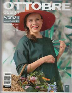 OTTOBRE design Woman Ausgabe 2 Frühjahr-Sommer 2021, neuw ungelesen, alle Muster
