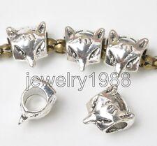 40pcs Tibetan Silver fox spacer Beads Fit European charm Bracelet 10x9mm F3361