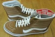 Vans Mens Sk8-Hi Tigers Eye Brown True White Canvas Suede Skate shoes Size 8