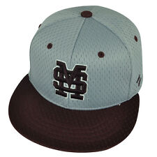 NCAA Mississippi State Bulldogs Zephyr Flat Bill Hat Cap Fitted Size Youth Gray