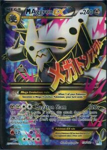Pokemon 154/160 M Aggron EX Primal Clash Ultra Rare