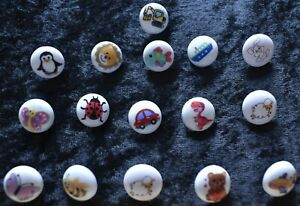 Round Bee Buttons, 10 In A Pack Round Butterfly Baby Buttons 15mm wide