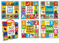Bright Baby First 100 Box Set Colors ABC numbers,Words,Animals +5 Paperbacks NEW
