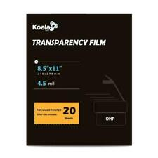 A-SUB 8.5 x 11 inch Inkjet Milky Transparency Film - 100 Sheets