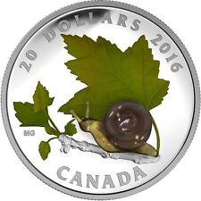 CANADA 2016 - $20 Silver Little Creatures: Venetian glass Snail