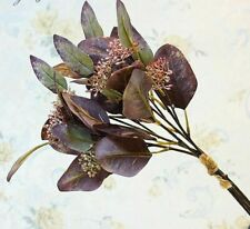 Fruit Oval Artificial Eucalyptus Leaves Bunch Of Money Leaves Fake Flowers Decor
