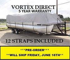 NEW VORTEX 23 - 24 FT ULTRA 3 PURPOSE PONTOON BOAT COVER/GRAY
