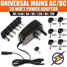 Ac/dc Universal Power Adaptor Supply Plug Main Charger 3 Pin 5v 2a UK