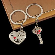"Fashion Key Ring Arrow ""I Love You"" Heart Key Lovers Couple Key Chain Keyring CI"