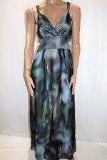 REVIEW Brand 'Altantic' Multicolour Silk Maxi Dress Size 12 BNWT #TN87