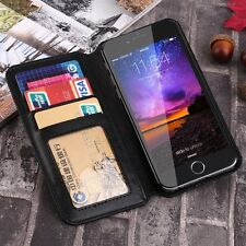 PU Leather Credit Card Holder Slot Wallet Flip Case Cover for iPhone  6 6S BU