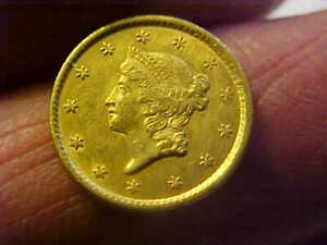 1851 LIBERTY $1 GOLD COIN NICE HIGH XF NICE TYPE COIN