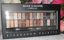 MAX & MORE Nude/Brown Eyeshadow Palette 28 colors eyeshadow new