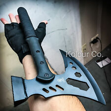 "17"" SURVIVAL CAMPING TOMAHAWK THROWING AXE BATTLE Hatchet Hunting Knife Tactical"