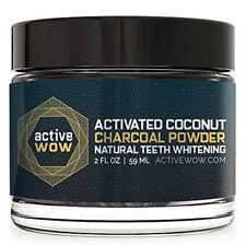 Polvo de carbón activo Wow activado de coco natural teeth whitening 59 Ml