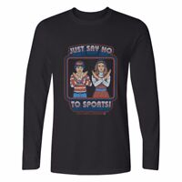 Just Say No to sportsi Printed Men's Cotton Long Sleeve T-Shirt Casual tops
