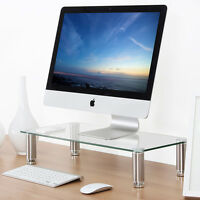 Clear Computer Monitor Riser 4.7'' High 23.6'' Save Space Desktop Stand for Mac