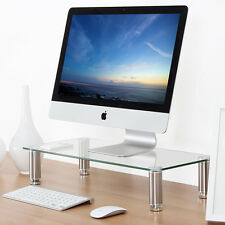 Fitueyes Computer Monitor Stand Riser iMac Laptop Pad Desktop Workspace Clear