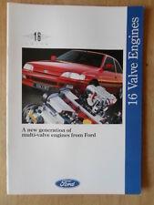 FORD 16 VALVE CARS 1992 UK Mkt Brochure - Escort XR3i Fiesta XR2i RS 1800 16v