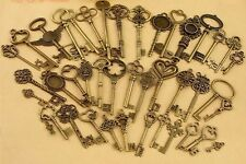 17Pcs Bronze Vintage Keys STEAMPUNK CYBERPUNNK COGS GEARS DIY JEWELRY CRAFT NEW