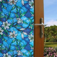 """Static Cling Frosted Color Flower Glass Window Film Sticker Privacy 17.7×78.7"""""""