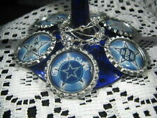 """1"""" Bottle Cap Image Wine Charms ~ Handcrafted ~ **Gift Idea ~ Cowboys"""