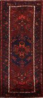 Vintage Geometric Hamedan Tribal Hand-knotted Area Rug Wool Oriental 4x7 Carpet