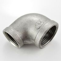 """SS304 1"""" x 3/4"""" Elbow 90 degree angled Reducer Pipe Fitting Female threaded"""