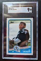1988 TOPPS #327 BO JACKSON FOOTBALL ROOKIE CARD RC RAIDERS ROYALS SGC 9 MINT