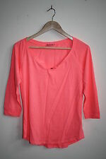 Terranova Fashion Designer Womans 3/4 Sleeve Top Bright Pink Soft Fabric SizeM