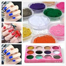 12 stk 12 Farbe 3D Samt Nail Art Pulver Puder Velvet Kit Nageldesign Nagelstudio