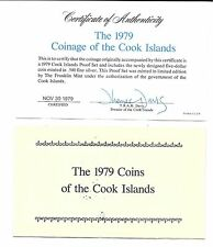 1979 Cook Islands 8 Coin 2 Piece C.O.A. And Document Set~No Coins~Free Shipping