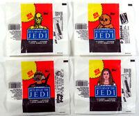 Star Wars Jedi (ROTJ S2) - 4x Wax Pack Card Wrapper SET - 1983 Topps NO TEARS !!
