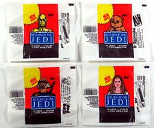 Star Wars Jedi (ROTJ S2) - 4x Wax Pack Card Wrapper SET - Slight Tears