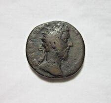COMMODUS, Ae As, 177-192 AD.  ROME MINT, CIRCA 183 AD. ROMA REVERSE.