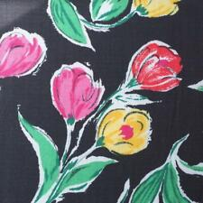 """Vintage 1980's Floral Pattern Cotton Polyester Blend Fabric 58""""x200"""""""