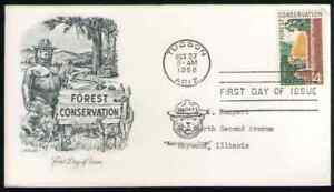 US. 1122. 4c. Forest Conservation Issue. Artmaster FDC. 1958