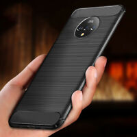 For OnePlus 9 Pro Nord N10 8T 5G 7T Pro Silicone Carbon Fober Texture Case Cover