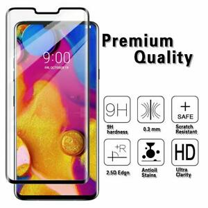 For LG V40 ThinQ Screen Protector 3D Full Coverage Tempered Glass Case Friendly