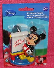 Mickey Mouse Birthday Cake Candle,Wilton,2811-7070,Multi-Color,Wax Topper