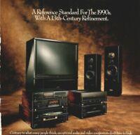 1990 Pioneer Elite Laser Disc Player LD-S2 Monitor Speaker Vintage Print Ad