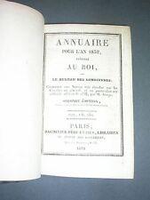 Sciences Annuaire du bureau des longitudes pour l'année 1832 Arago Comètes