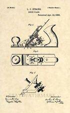 Official Bench Plane US Patent Art Print- Vintage Antique Tool Carpenter 160