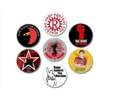 7 X Rage Against The Machine buttons (25mm, badges, pins, evil empire)