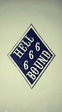 Hell Bound Diamond 666 Patch. 1%er Biker. Black & White Patch.